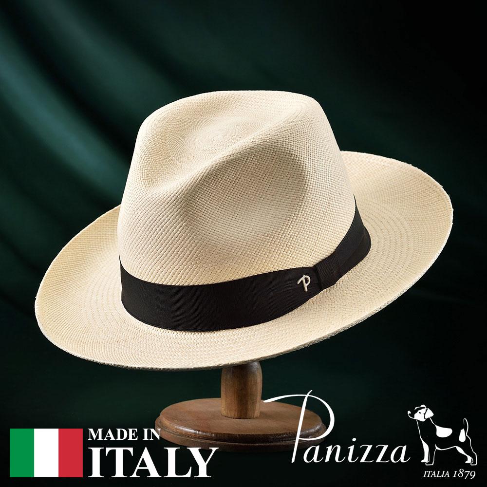 【高級パナマハット(パナマ帽)/Panizza(パニッツァ)】QUITO NATURALE(キト ナチュラレ)≪イタリアの高級老舗ブランドが作るおしゃれなパナマハット(中折れハット)メンズ/レディース/紳士/婦人/帽子/ハット/紳士帽子/あす楽/送料無料≫