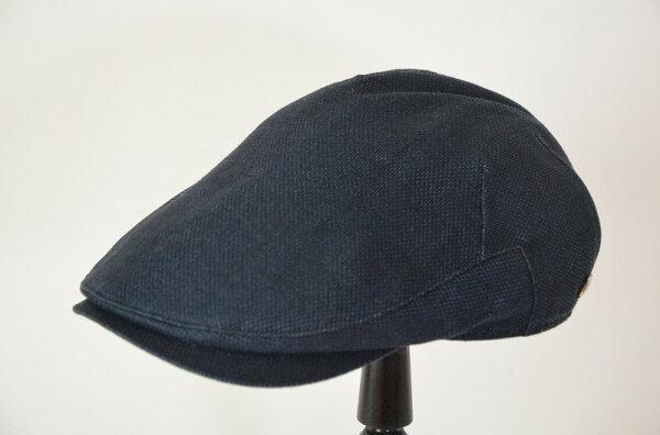 DAKSダックスリネンオックスメンズハンチングネイビー紺S〜LLハンチング小さいサイズ大きいサイズ春夏紳士帽子男性父の日日本製帽
