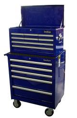 Seednew(シーズニュー) チェスト&ロールキャブセット(ブルー) ★下5段・上8枚ドア ★工具箱:KB1TOOLS