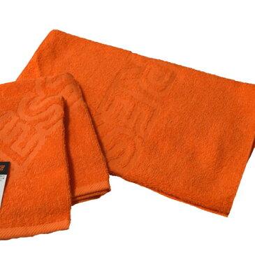 防炎加工 ロングフェイスタオル レスキュー オレンジ 約34×100cmm 綿100% [送料無料]RESCUE
