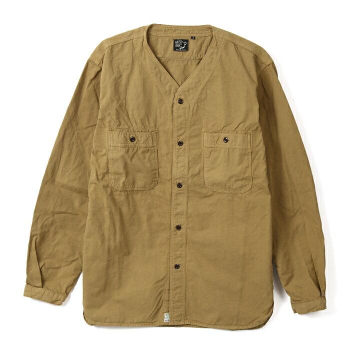 トップス, カジュアルシャツ orSlow NO COLLAR SHIRT CHINO TWILL