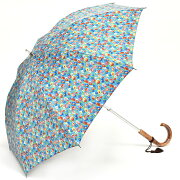 TOKYOPRINT[小花]ブルーTP-049S47cm×8本骨軽量遮光日傘(カーボン骨スライドショート)[HATCHI/B073WWXGDV]