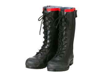 不帶安全高筒靴安全靴橡膠靴工作高筒靴高筒靴作業用作業用高筒靴踏的防止板高幫日本製造靜電帶電防止高筒靴AE030安全編上長靴導電型Shibata工業