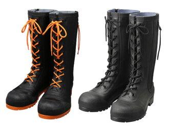 在安全高筒靴安全靴橡膠靴工作高筒靴高筒靴作業用作業用高筒靴高幫日本製造AB090(黑色)AB110(黑色/柳丁)安全篇上高筒靴HSS-001 Shibata工業