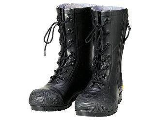 供不帶供安全高筒靴安全靴橡膠靴工作高筒靴高筒靴作業用作業用高筒靴消防團員使用的消防消防團踏的防止板高幫日本製造AF020消防團員使用的橡膠長靴SG201 Shibata工業