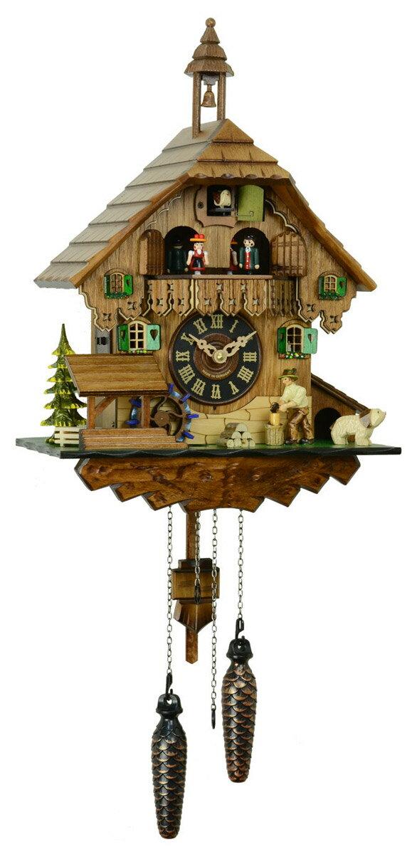 鳩時計 壁掛け時計 ハト時計 はと時計 ポッポ時計 クォーツ鳩時計448QMT【楽ギフ_包装】:森の時計ストア
