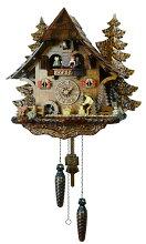 【送料無料】鳩時計ドイツ森の時計山小屋473QMT【楽ギフ_包装】