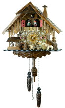 【送料無料】鳩時計ドイツ森の時計山小屋487QMT【楽ギフ_包装】