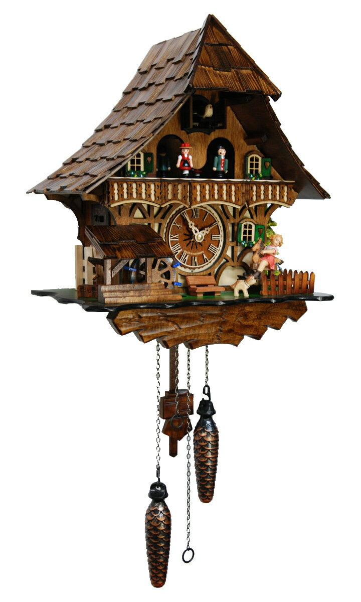 鳩時計 壁掛け時計 ハト時計 はと時計 ポッポ時計 クォーツ鳩時計4965QMT【楽ギフ_包装】:森の時計ストア