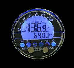 送料無料/ACEWELL/エースウェル/バイク用/多機能デジタルメーター ACE-2802 汎用/ACE-2802
