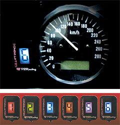 【取寄品】【ギア】【メーター】【カスタム】【PZRacing】PZレーシング GT300 GEARTRONIC ギア...