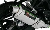 【ヨシムラ】【マフラー】Slip-on Tri-Oval サイクロン SS【ステンレスカバー】【1エンド】08 NINJA 250R【110-225-5450】