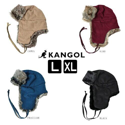 送料無料 KANGOL カンゴール WOOL USHANKA Lサイズ〜XLサイズ ウール ウシャンカ パイロットキャッ...