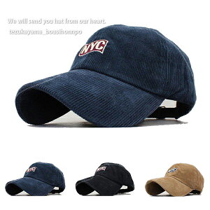 キャップ 帽子 ローキャップメンズ レディース NYC コーデュロイ 春夏 トレンド 人気 おしゃれ
