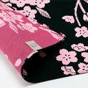 風呂敷日本製105cm幅有職和柄リバーシブル両面黒消炭色濃いピンクピンクけ...