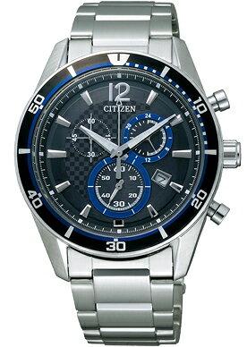 シチズン エコドライブ クロノグラフ 腕時計 メンズ VO10-6741F