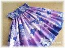 【送料無料】パウスカート子ども【528】グラデーションパープルプルメリア柄パープルピンクハワイハワイアンファブリック子供こどもケイキフラフラダンススカート衣