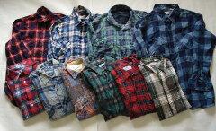 アメリカ古着卸売り 選べるカラーまとめてUSEDネルシャツ5枚セット古着屋ヴィンテージショップリラックスオープン記念特価福袋古着ベールから