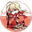 サクル R.P.G. 同人缶バッジ FateGrand Order ☆『赤セイバillust:ドア』★ネコポス可