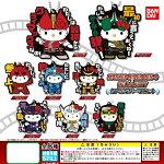 【1S】【ネコポス可】バンダイハローキティ×仮面ライダー電王カプセルラバーマスコット全8種セット