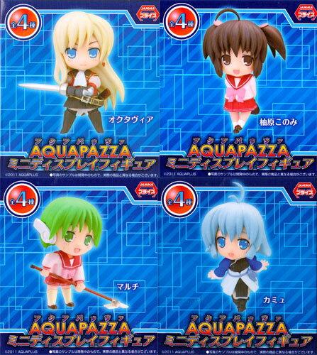 All four kinds of AQUA PAZZA- アクアパッツァ - MDF mini-display figure skating sets