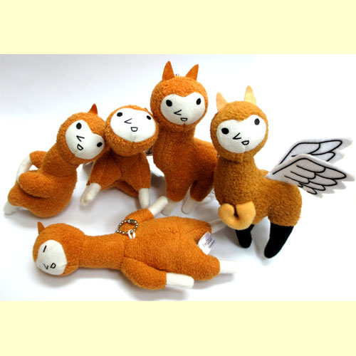 All five kinds of alpaca older brother COCOSOLA mascot key chain evolution LV1 sets