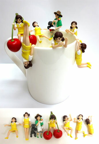 All seven kinds of edge child 2 fresh yellow sets of the glass