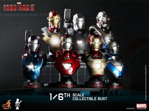"] with 42 (battle damage version) hot toys bust ""eye 3, Amman"" 1/6 scale bust deluxe set ☆[ iron man mark bonus busts★"