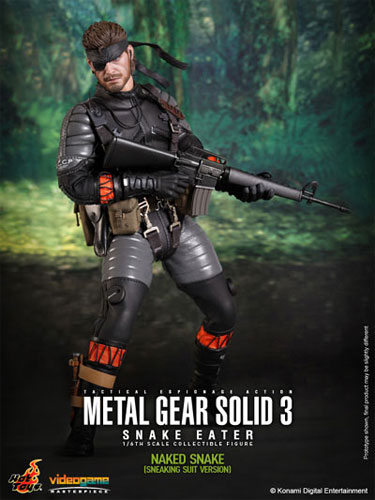 Hot toys video game masterpiece: Metal Gear Solid 3: Snake Eater, Naked Snake sneaking suit ver. 1 / 6 scale fully poseable figure