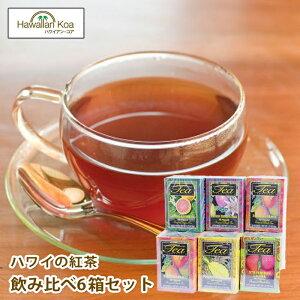紅茶 ティーバッグ 送料無料 ハワイアンアイランド フルーツティー 個包装 ハワイの紅茶 フレーバーティー紅茶 ハワイ アイスティー ハワイを堪能できる6テイストセット 20ティーバッグ×6箱セット hawaiian island tea