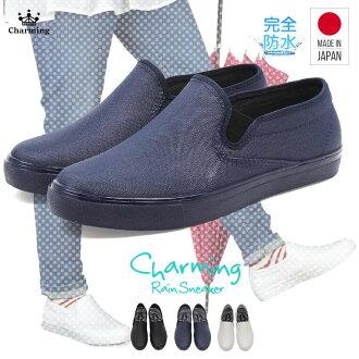 日本製造防水運動鞋女士雨鞋人氣橡膠鞋防滑園藝高筒靴帆布型推雷恩女用淺口無扣無帶皮鞋防水園藝鞋懶漢鞋女士防水鞋女士緩慢的cut 115-2500