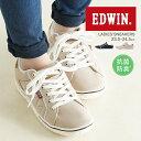 EDWIN スニーカー レディース ローカット 運動靴 紐靴