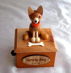 コーギー 木製からくり犬オルゴ−ル TM001F
