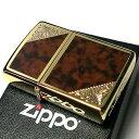ZIPPO ライター ジッポ ゴールド&ブラウン クラシック...