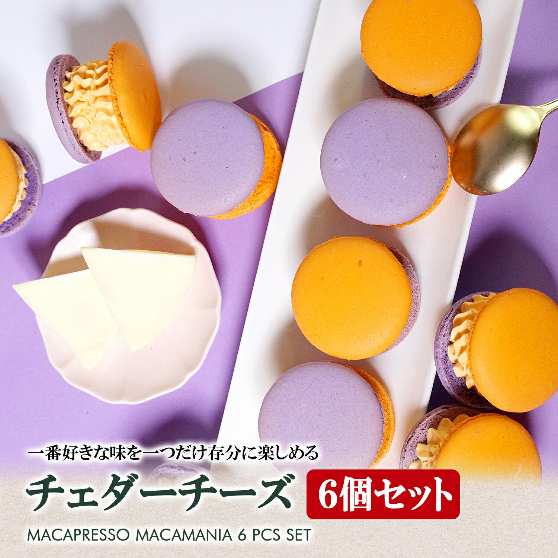 太っちょマカロン MACAPRESSO マカマニア チェダーチーズ 6個セット マカプレッソ トゥンカロン マカロン macaron 韓国 スイーツ プレゼント ギフト