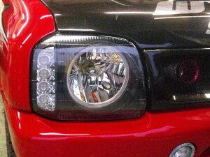 【ジムニーJB23/33/43】イカリング/LEDウインカーヘッドライト