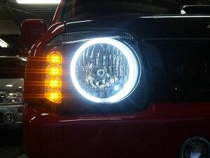 【ジムニーJB23/33/43】イカリング/LEDウインカーヘッドライト(保証付)