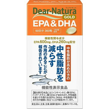 ディアナチュラゴールド EPA&DHA 60日分 【360粒】(アサヒグループ食品)