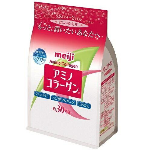 【限定特価】明治製菓 アミノコラーゲン 詰替え用 214g(30日分) アミコラ