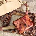 【FRUTTI】絵画のような特注レザーで仕立てるミニウォレット♪パーティーバッグに合わせたいVirola Alice (ヴィローラ アリス)ミニ財布 本革 レザー ピンク 花柄 三つ折財布 極小財布 パーティー財布 FRUTTI DI BOSCO フルッティ ディ ボスコ 356-1138-22-8054