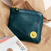 【ATAO】limoハーフ(エナメルレザー)コインも紙幣もカードも入るコンパクト財布ビリジアン