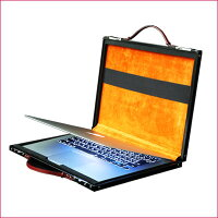 【PROTEX】ブリーフケース/MacBookケースRico(リコ)ブラック ×スエードレザー
