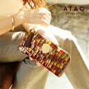 【ATAO】長財布 レディース limovitro(リモヴィトロ)ステンドグラスをイメージしたイタリアンレザーのロングウォレット