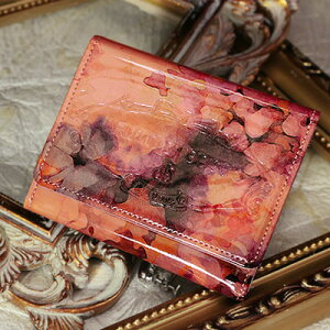 キーケース 鍵入れ ピンク エナメル【FRUTTI】絵画のようなレザーで仕立てるキーケースChiav...