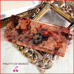 長財布 イタリアのタンナーに特注するレザーに、ひとめ惚れの声続出!ピンク エナメル 花柄 内...