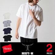 ヘインズ ビーフィー コットン ショップ カジュアル Tシャツ