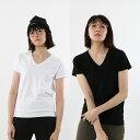 【公式】ヘインズ Hanes ウィメンズ ジャパンフィット【2枚組】VネックTシャツ 5.3oz 20SS Japan Fit for HER (HW5325)