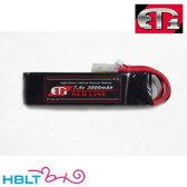 【ET1】バッテリー LIPO R 7.4v 3000mAh レッドライン ラージコネクタ/ET-1