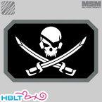 *ポスト投函商品* 【MSM(ミルスペックモンキー)】パッチ Pirate Skull Flag(刺繍)/MIL-SPEC MONKEY/ベルクロ/パッチ/ワッペン/海賊旗/スカル/骸骨/サバゲ/装備