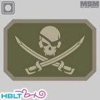 【MSM(ミルスペックモンキー)】パッチ Pirate Skull(PVC)/MIL-SPEC MONKEY/ベルクロ/パッチ/ワッペン/海賊/スカル/骸骨/サバゲ/装備